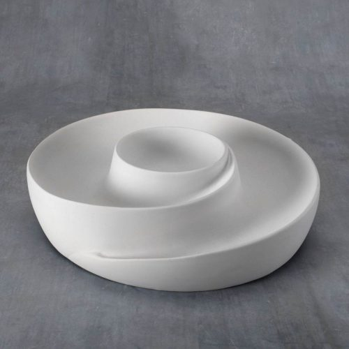 BQ LRG SWIRLY CHIP AND DIP BOWL