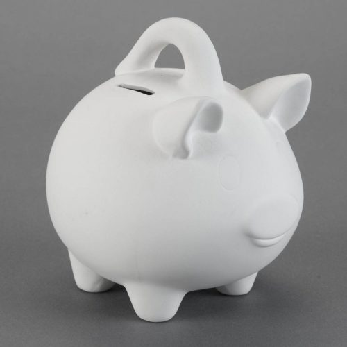 BQ LG PIGGY BANK W HANDLE