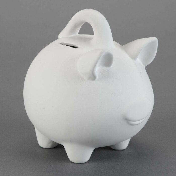 BQ LG PIGGY BANK W HANDLE