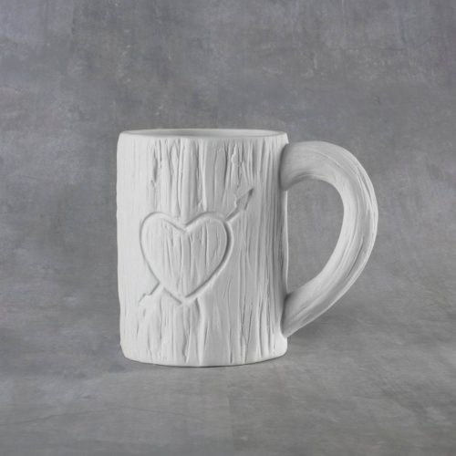 BQ SM TREE CARVED HEART MUG 12 OZ