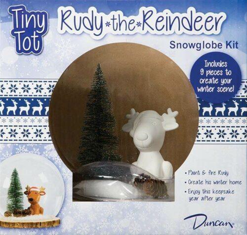 BQ XLG TINT TOT RUDY THE REINDEER SNOWGLOBE KIT