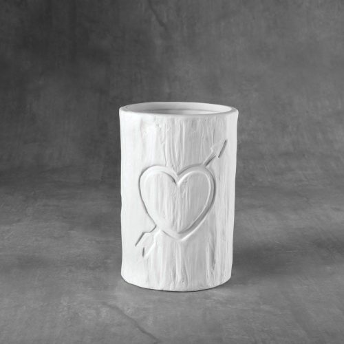 BQ SM TREE CARVED HEART VESSEL